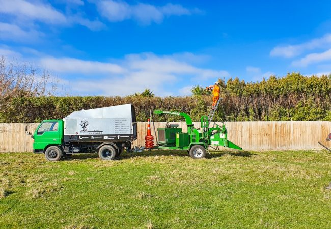 Residential tree mulching